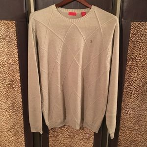 IZOD Thick Cable Knit Sweater NWOT XL $90 Sand